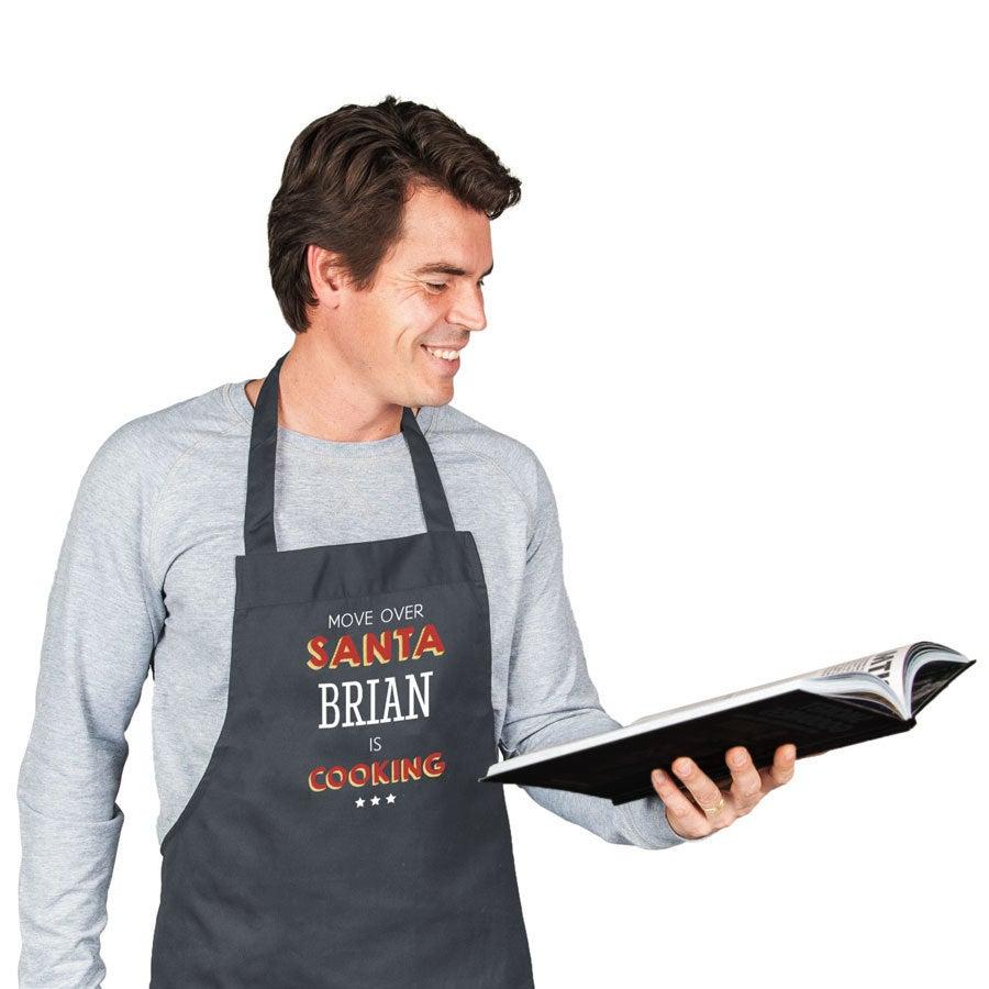 Custom Christmas apron - Grey