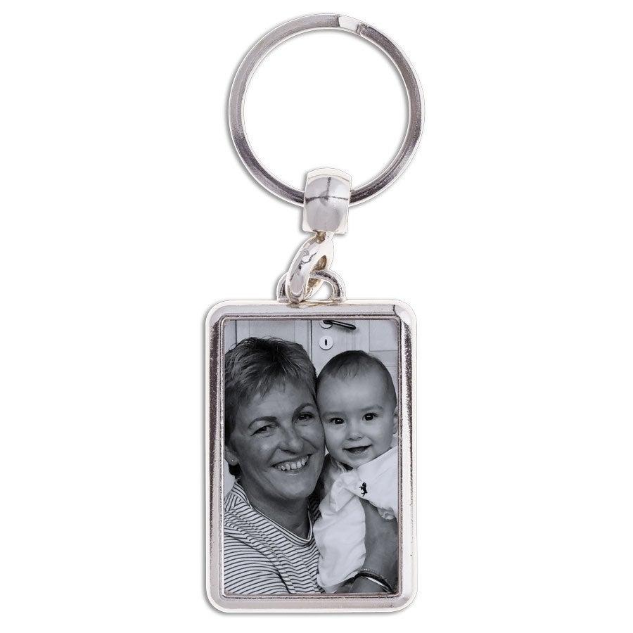 Nyckelring med foto - mormor/farmor