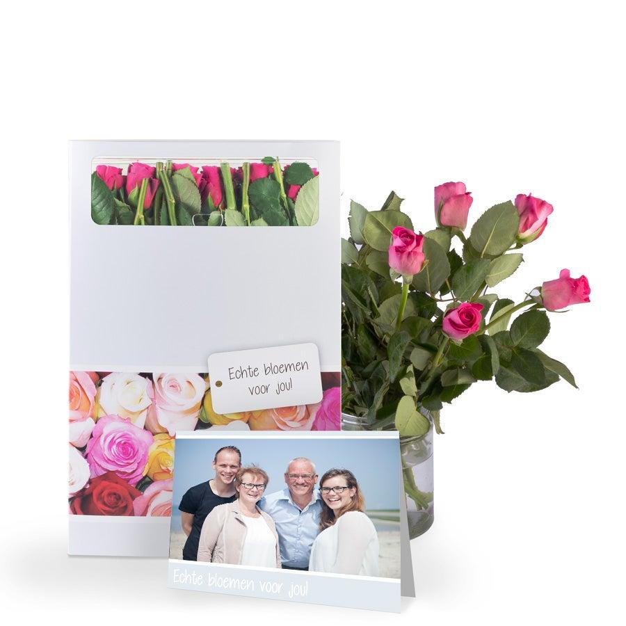 Brievenbusbloemen - Roze rozen