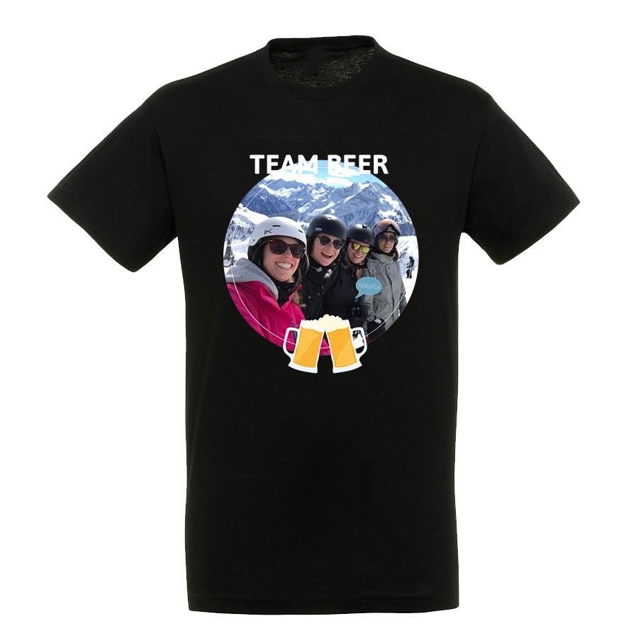 T-paita - Miehet - Musta - XXL