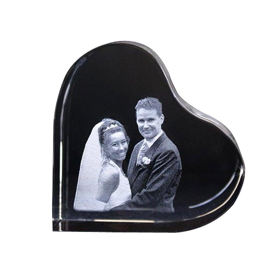 2D foto in glas - Hartvormig