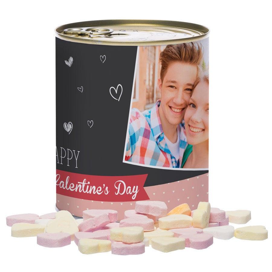 Tin av søtsaker - Love Hearts