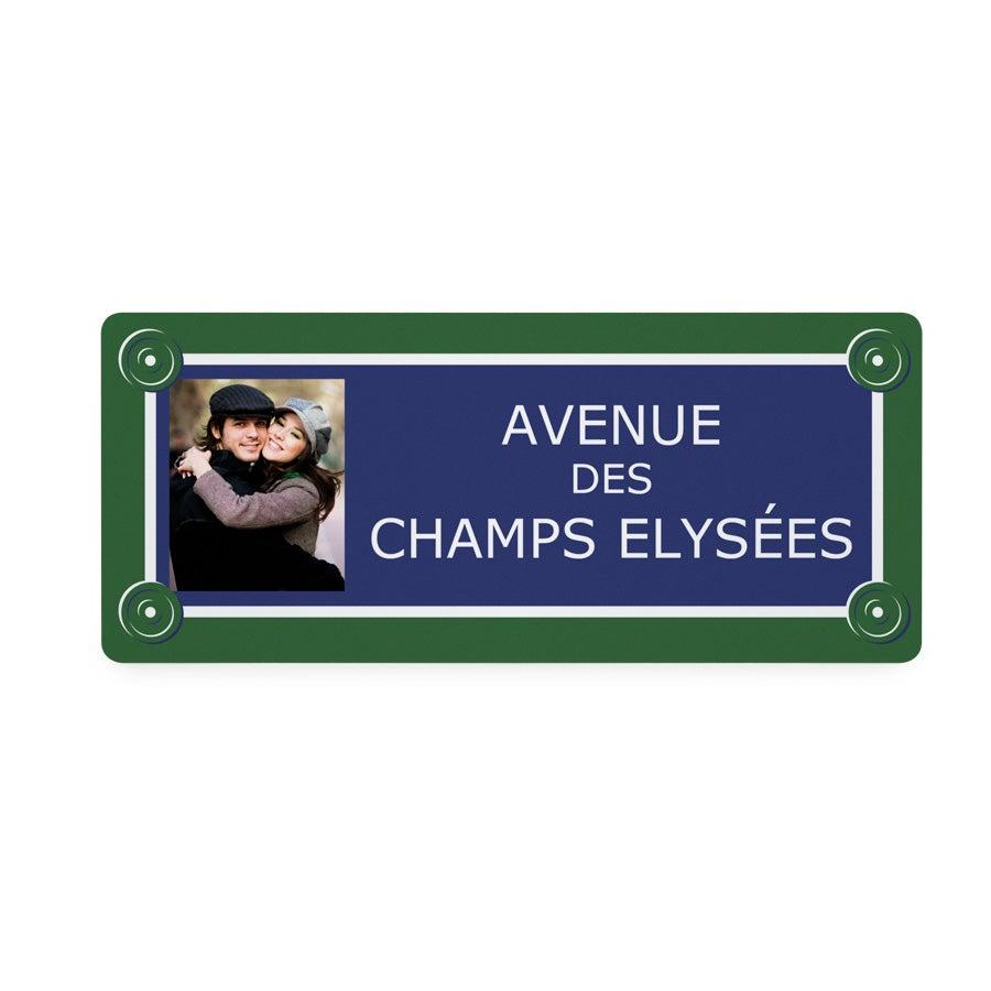 Plaque de rue en aluminium - 36x15 cm