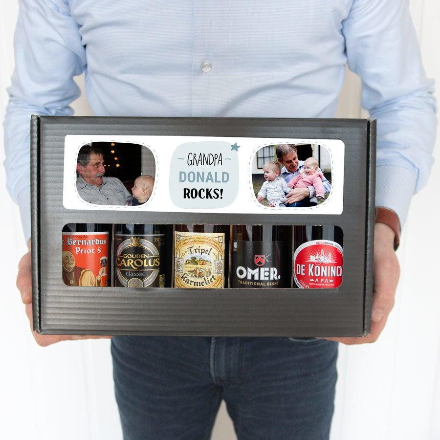 Personalised Beer Gift Set for Grandpa - Belgian Beers