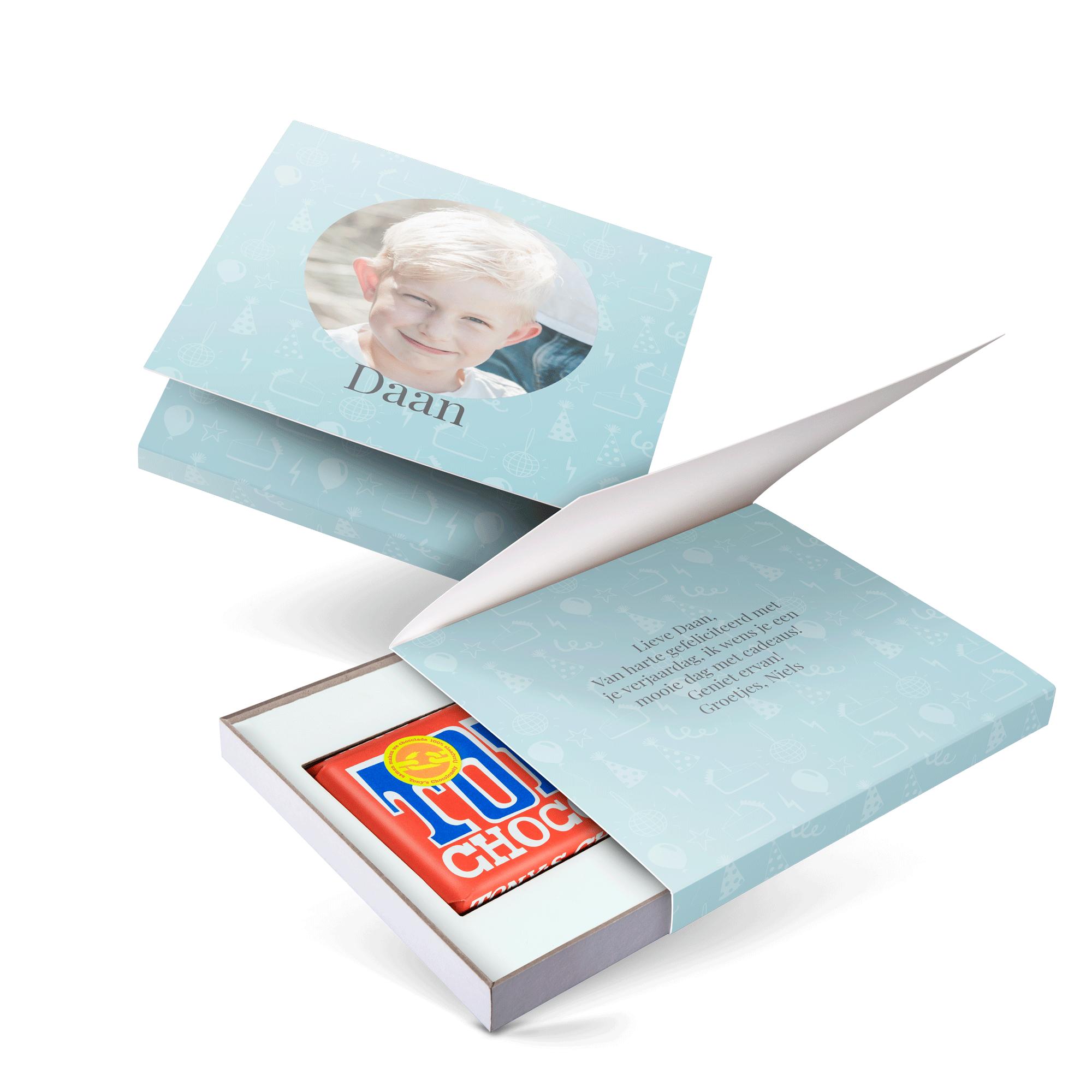 Giftbox met reep Tony's Chocolonely bedrukken - Melk