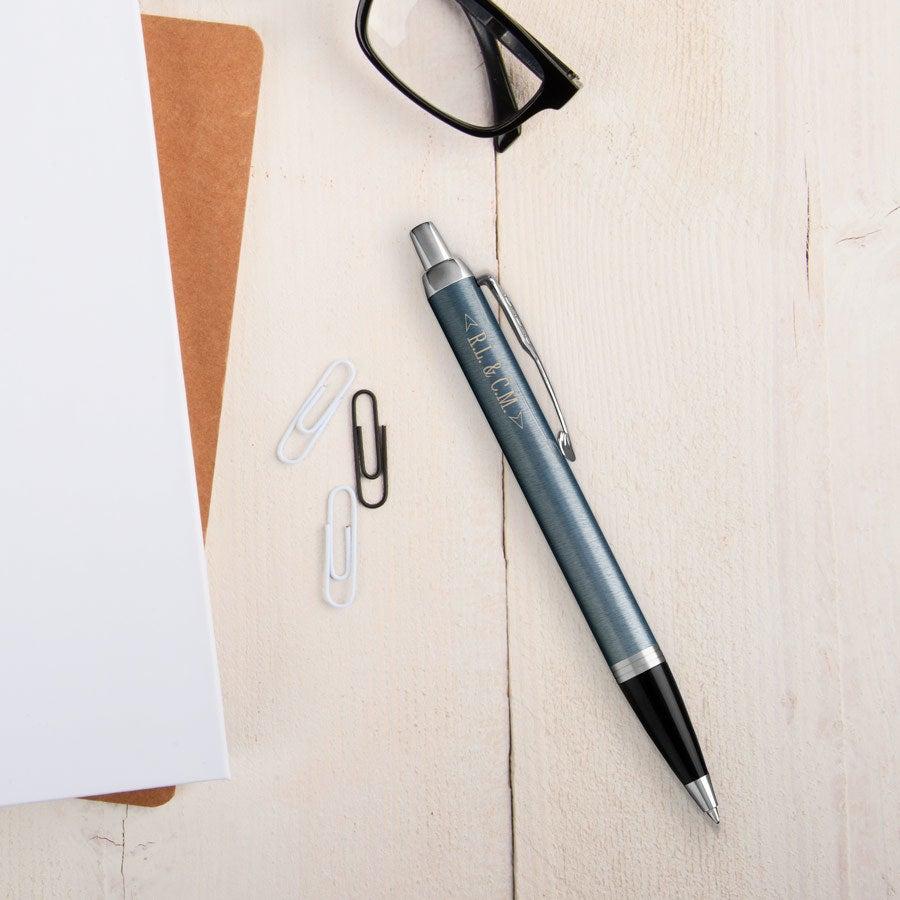Individuellbesonders - Parker IM Kugelschreiber Linkshänder (Blau Grau) - Onlineshop YourSurprise