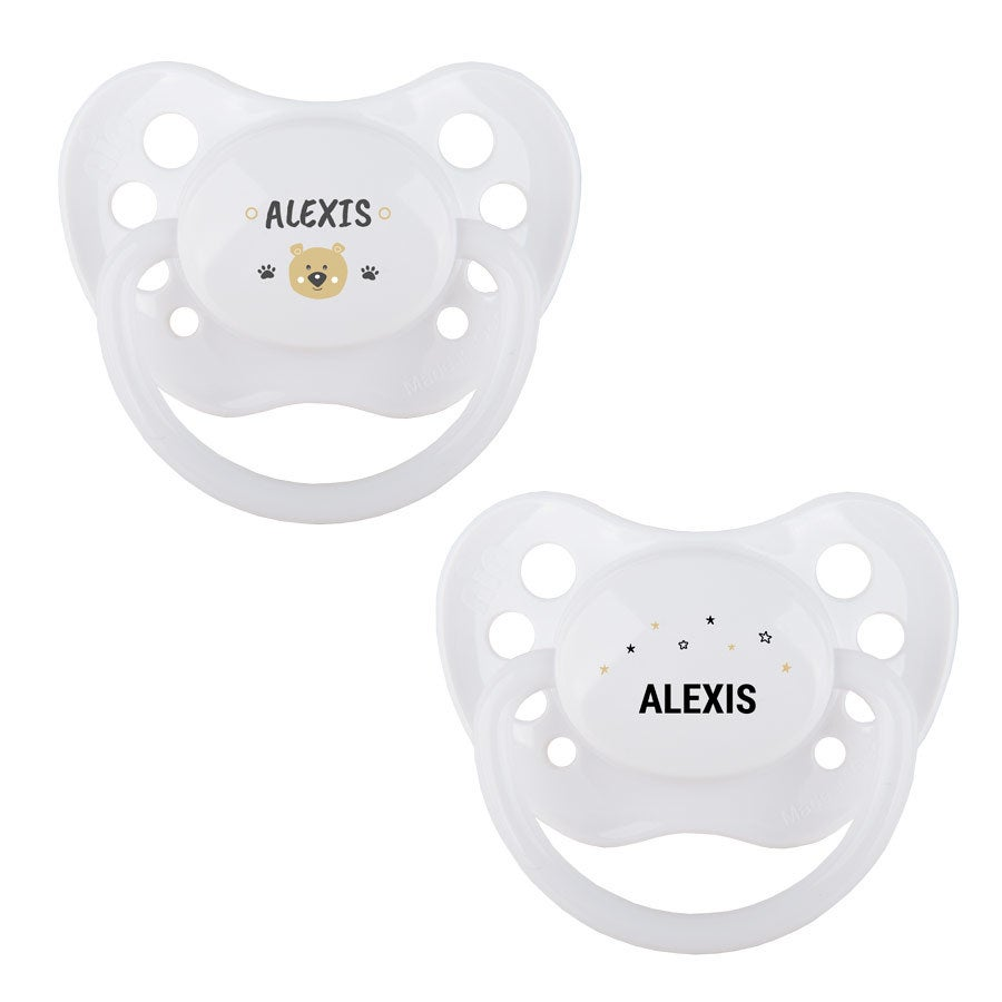 Pacifiers - White - Set of 2