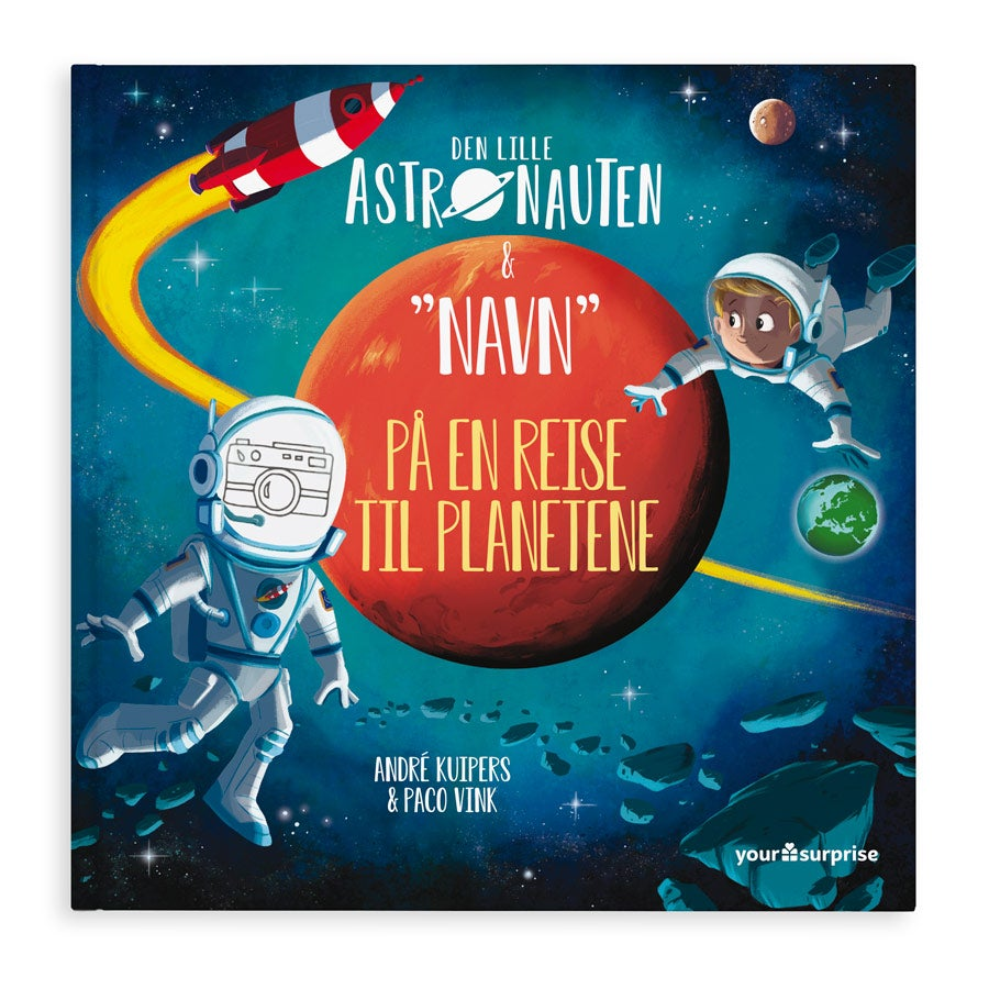 Barnebok med navn og foto - Den lille astronauten