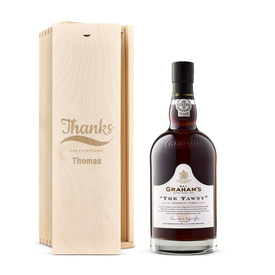 Port in engraved case - Graham's The Tawny Reserve