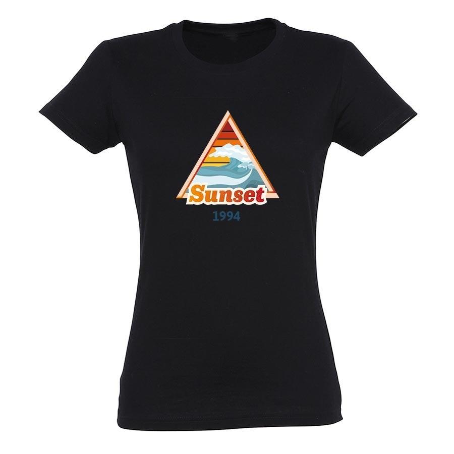 T-paita omalla painatuksella - Naiset - Musta - XXL