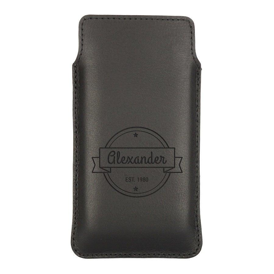 Leren telefoonhoesje - LG L70 - zwart