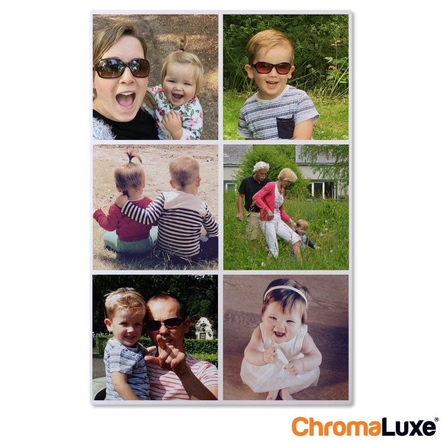 Persoonlijke instacollage aluminium - Chromaluxe - Wit - 40x60