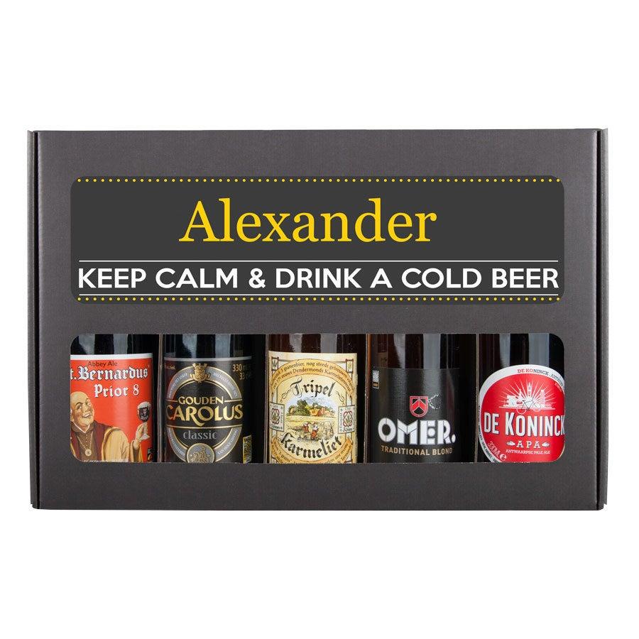 Personlig Øl Gavesæt - Belgisk