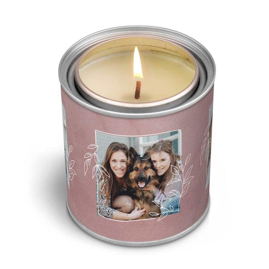 Személyre szabott illatos gyertya - Az ajándék címke - 250 g
