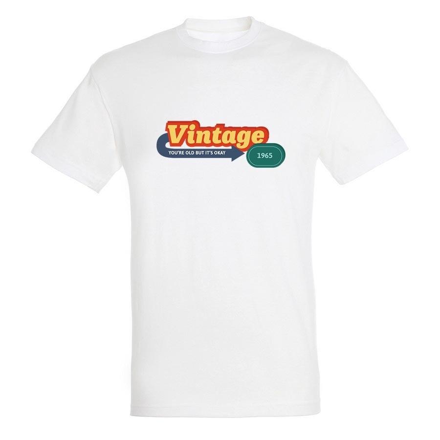 T-paita - Miehet - Valkoinen - XXL