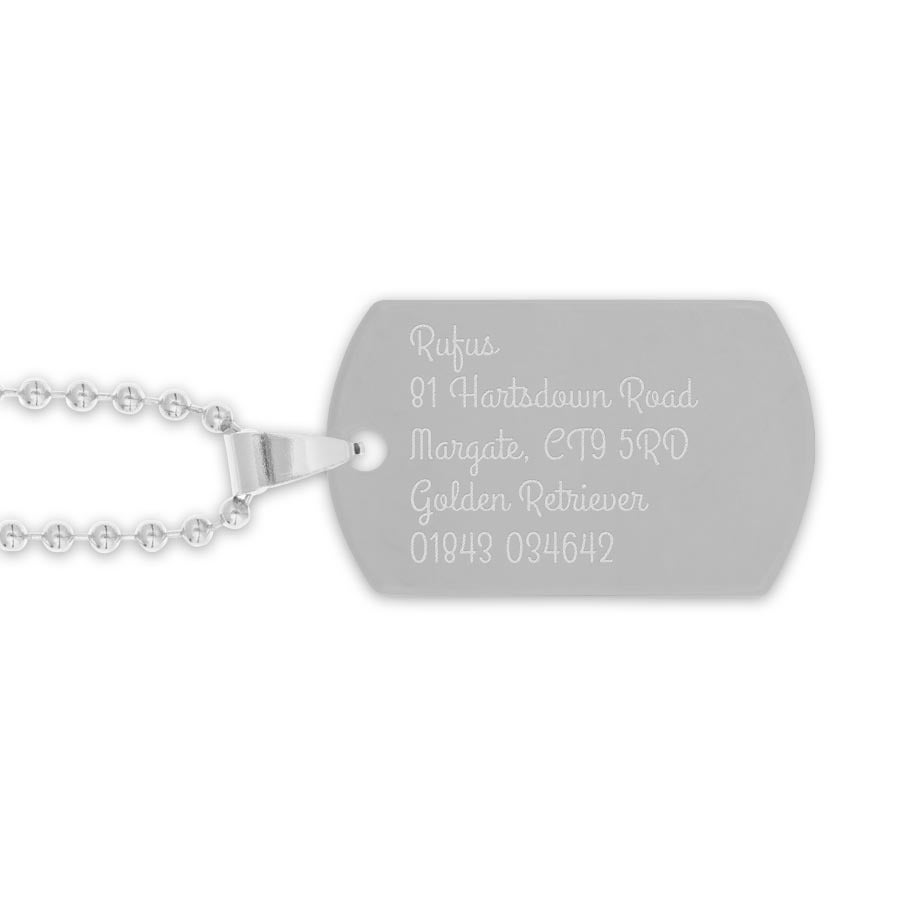 Name Tag (rhodium)
