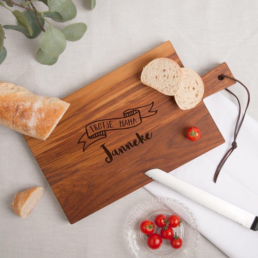 Moederdag broodplank - Teak - Rechthoek - Liggend