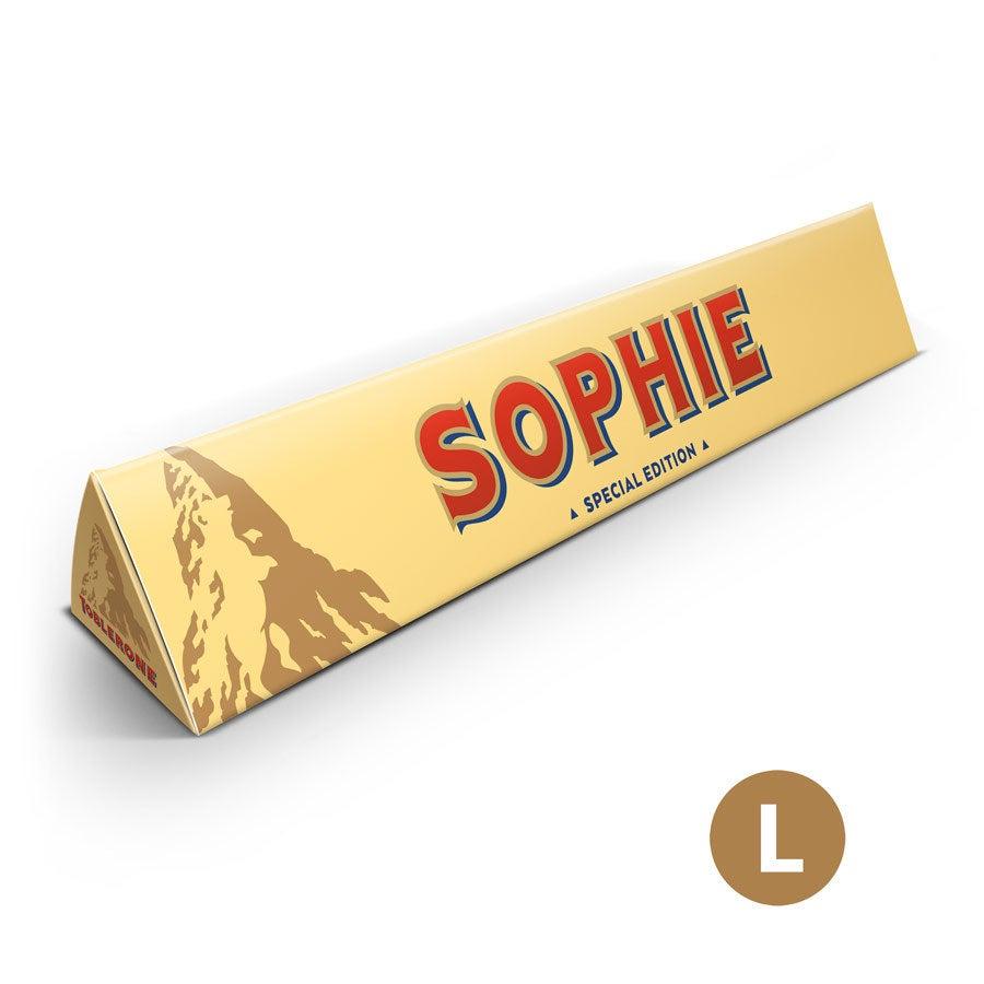 Toblerone reep met naam en foto