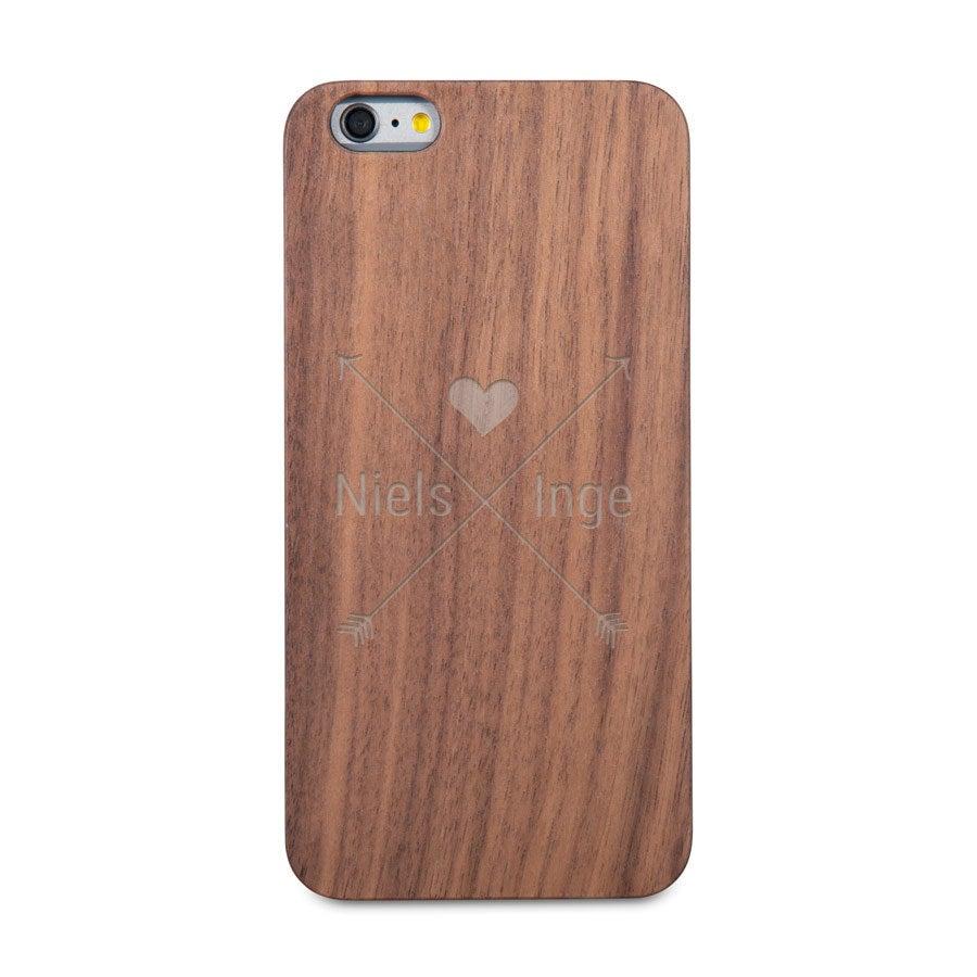 Houten telefoonhoesje graveren - iPhone 6s plus