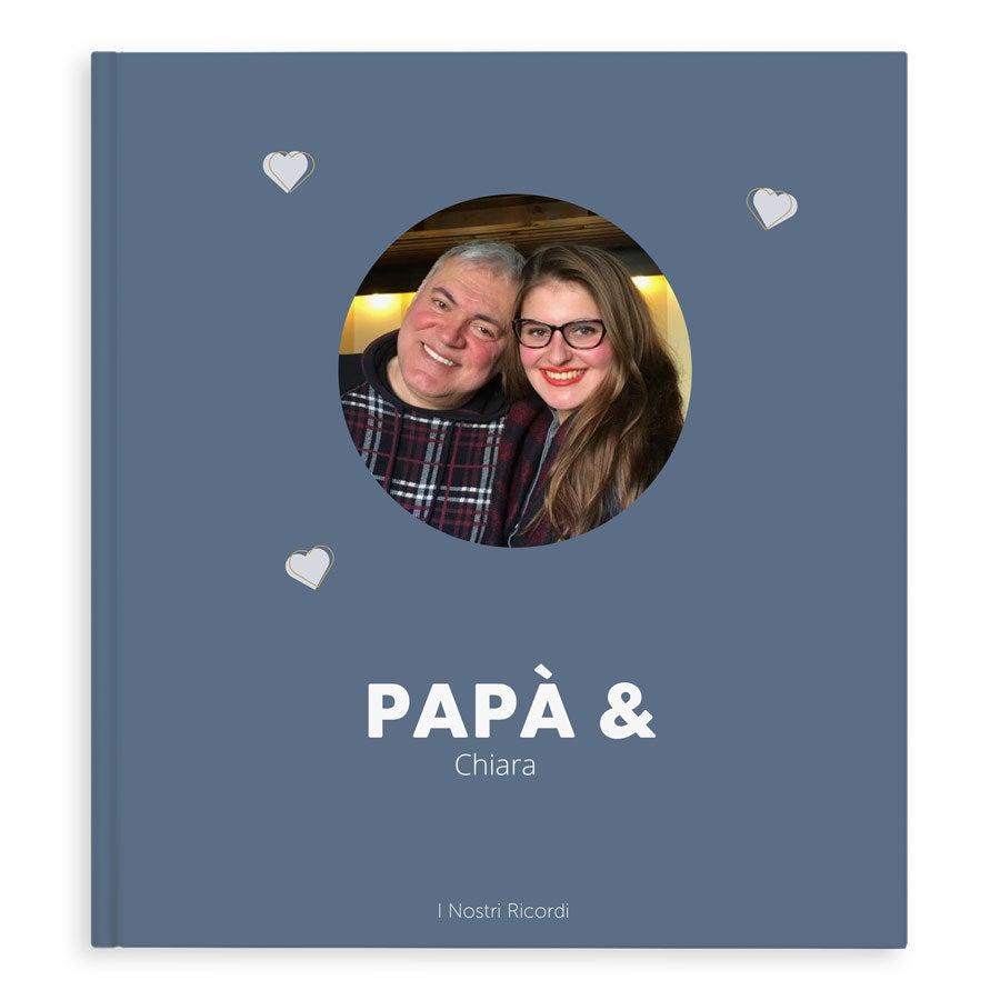 Album fotografico personalizzato - Papà ed Io/Noi - XL - Copertina rigida - 40 pagine