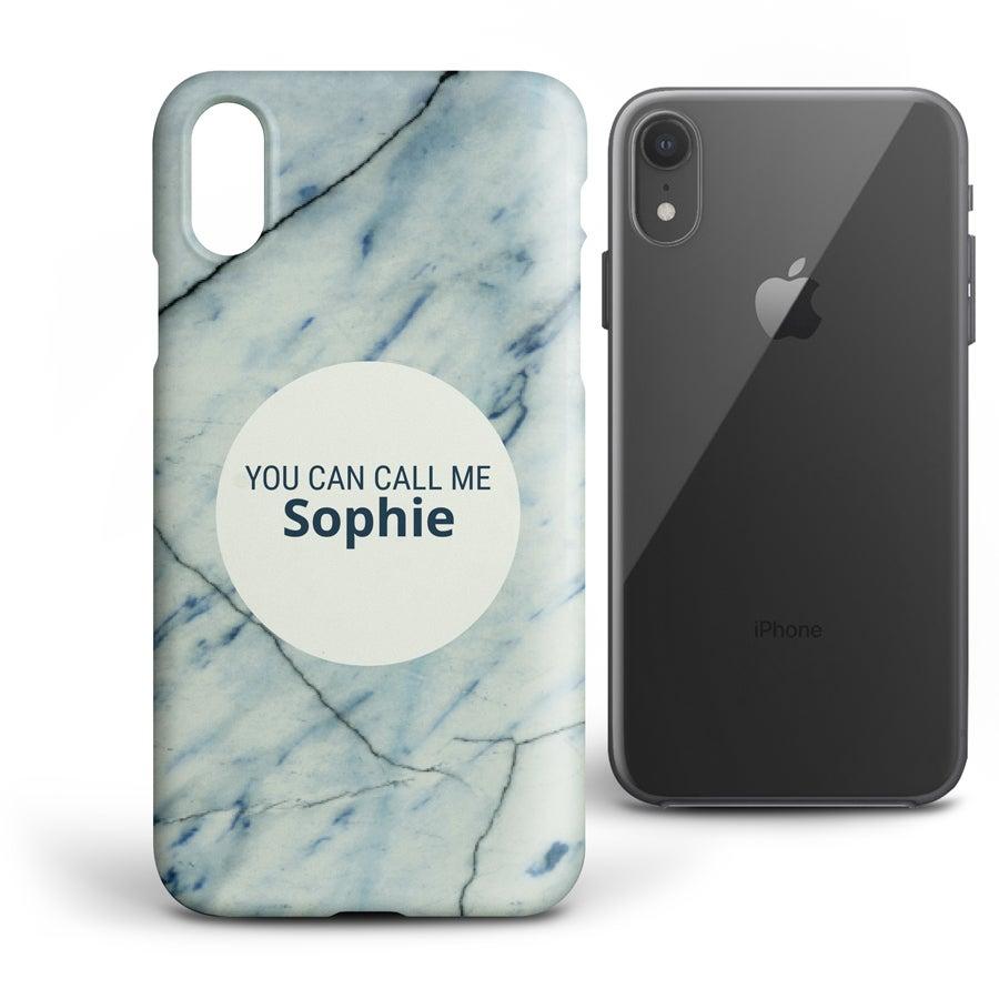 Yksilöitävä puhelimen suojakuori - iPhone XR - Kova kuori