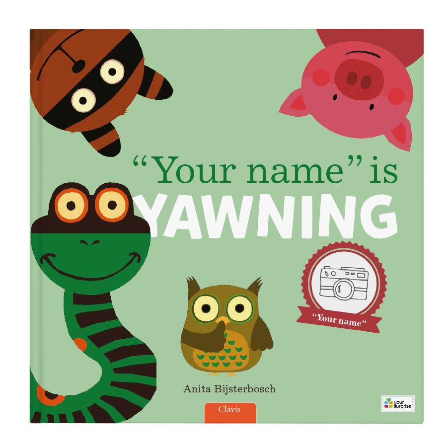 Book with name - Everyone is yawning - XXL flip up book