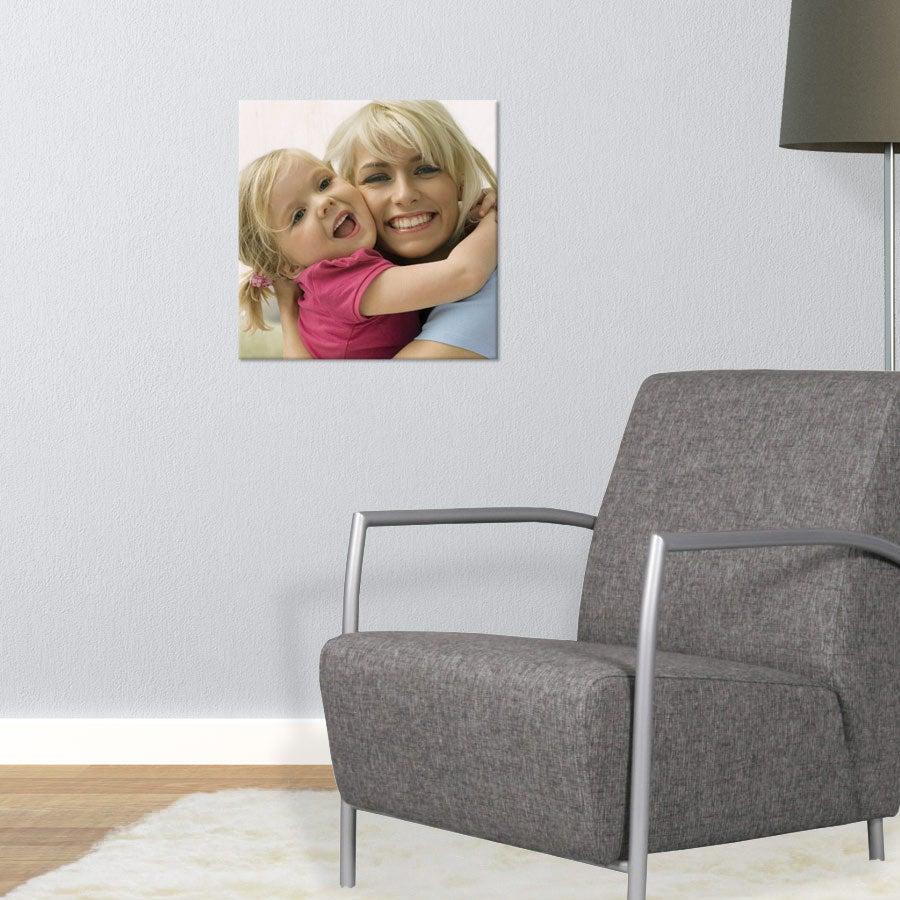 Puinen valokuvataulu (40x40cm)