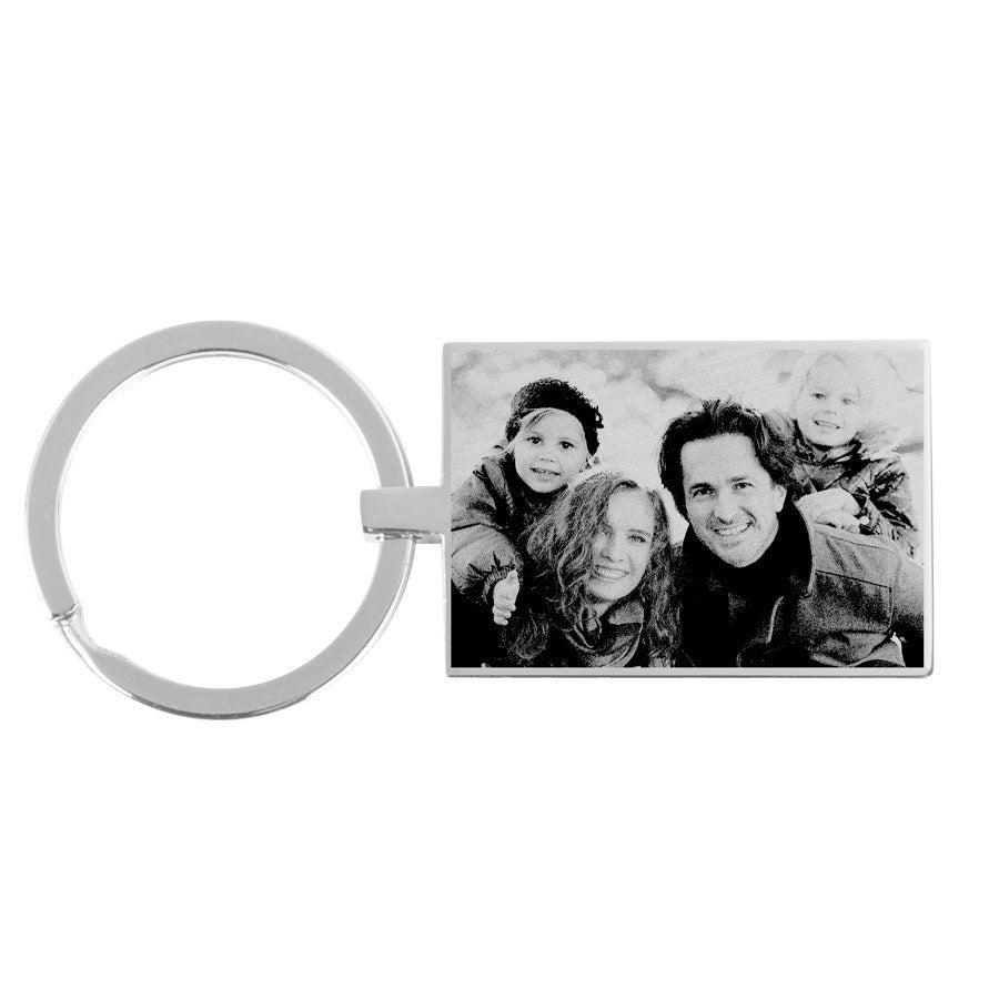 Schlüsselanhänger - Fotogravur - Rechteck