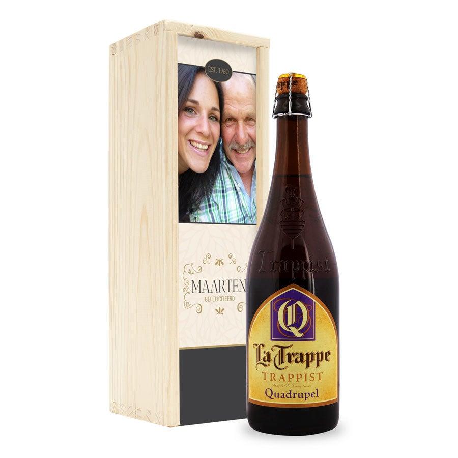 Bier in bedrukte kist - La Trappe Quadrupel