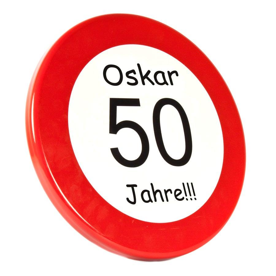 Verkehrsschild mit Namen - Klein (Ø30)