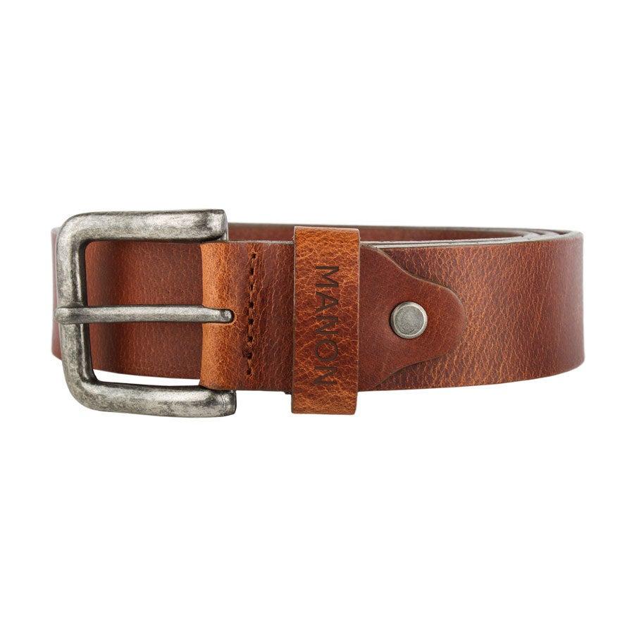 Cinturón de piel personalizado - Marrón (80)