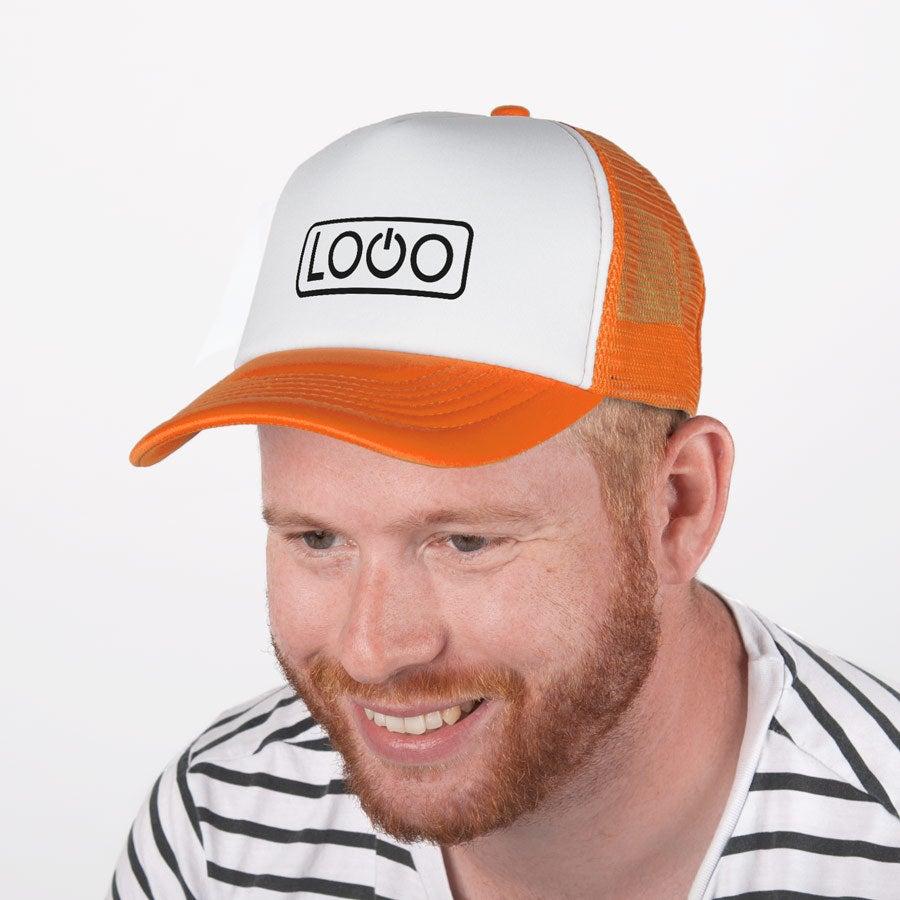 Trucker-lippis - Oranssi / valkoinen