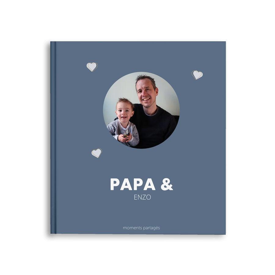 Album photo Fête des Pères - Papa & Moi - M - Couverture rigide - 40 pages
