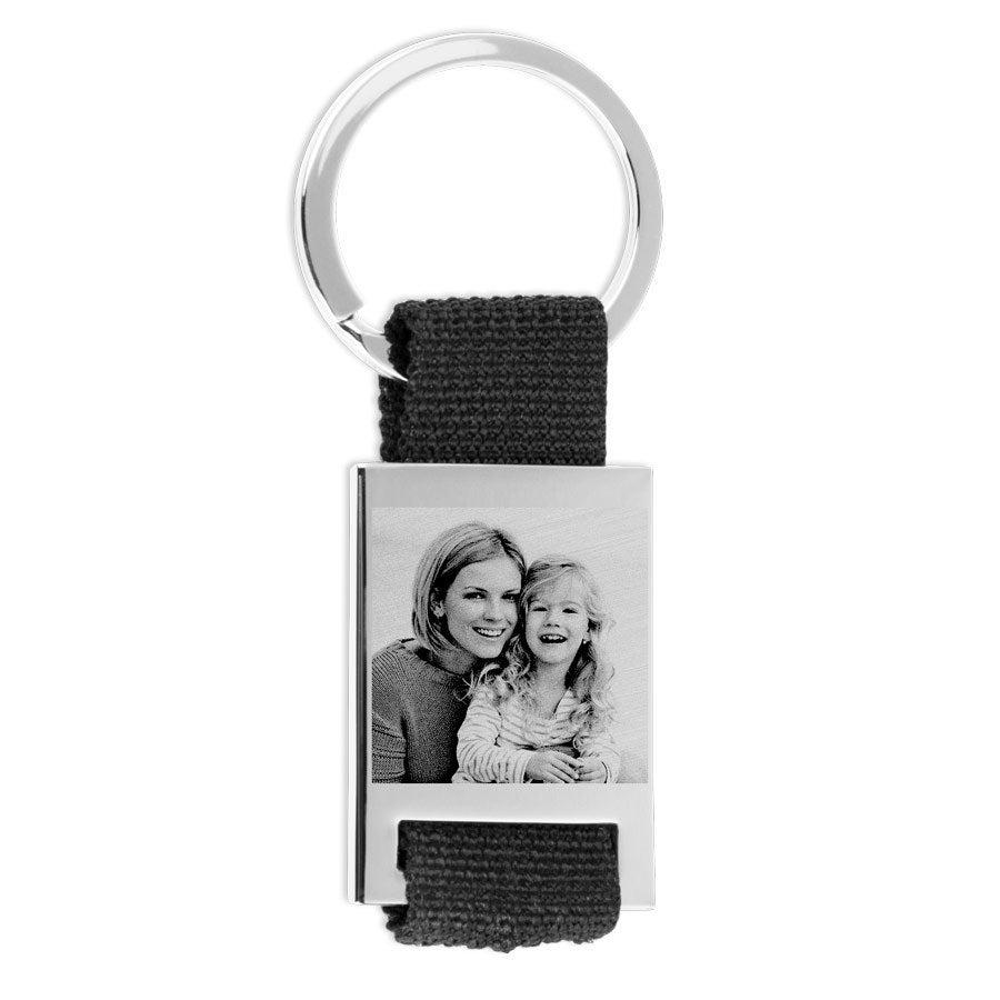 Porte-clés photo deluxe - Gravé