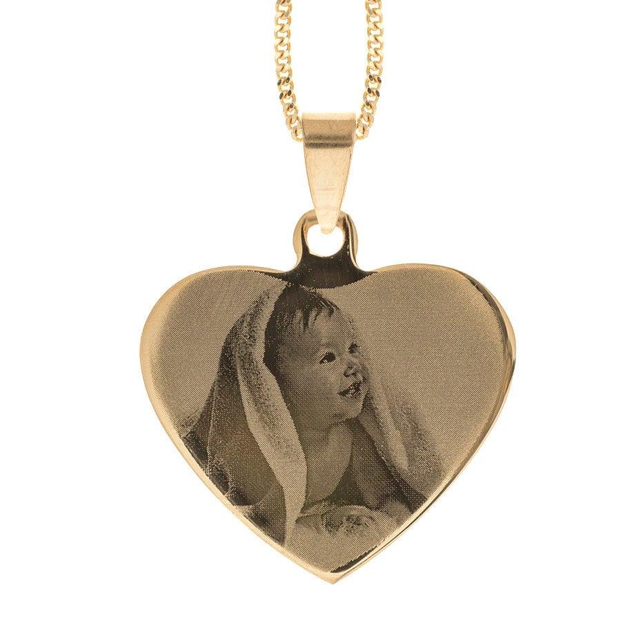 Colgante grabado con foto - Corazón