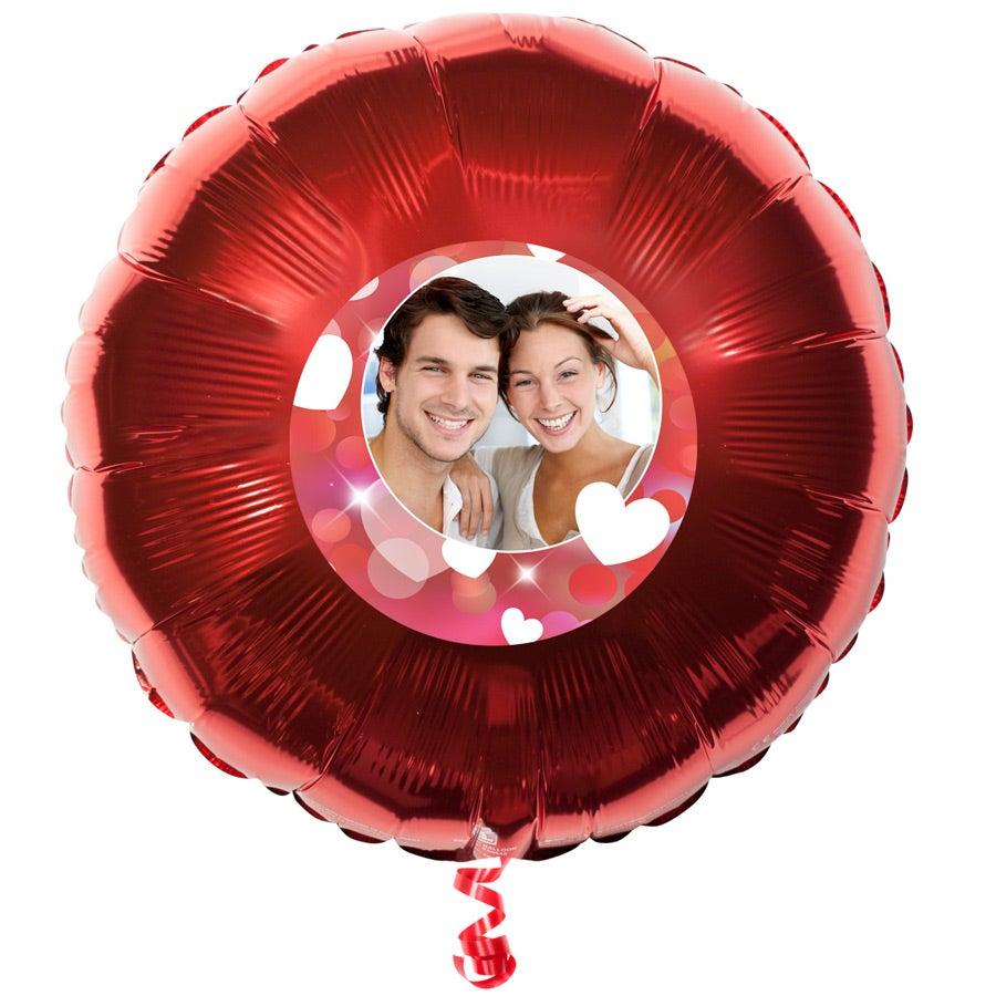 Folienballon bedrucken - Rund - Rot