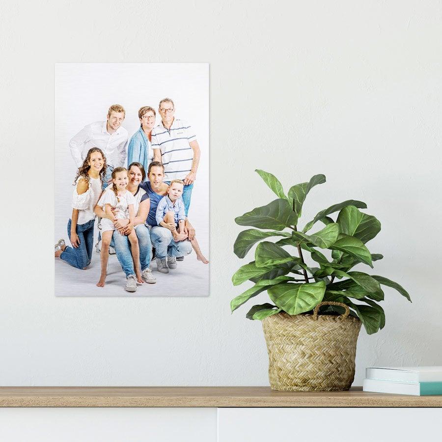 ChromaLuxe Alumiininen valokuvapaneeli - Harjattu (20x30cm)