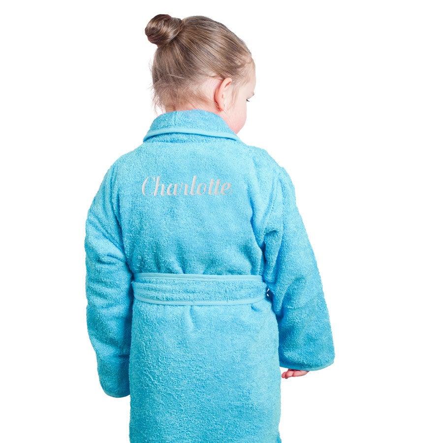 Szlafrok dla dzieci - niebieski (110-116)