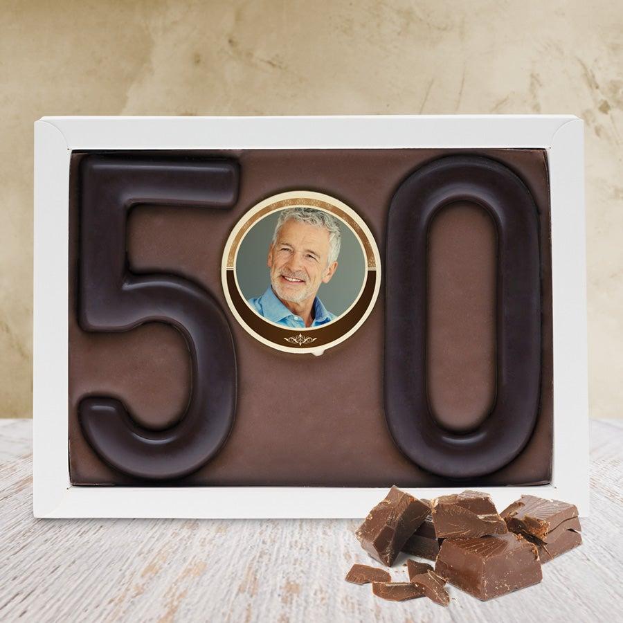 Schokoladentafel - Ziffern