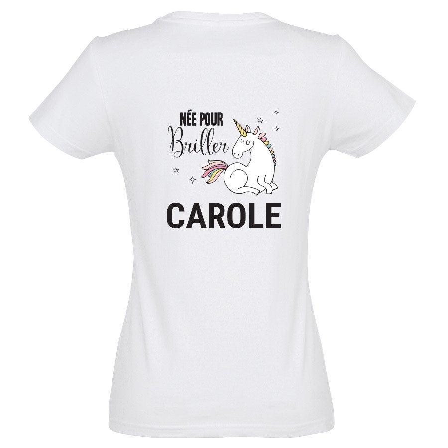 T-shirt Licorne - Femme - Blanc - S