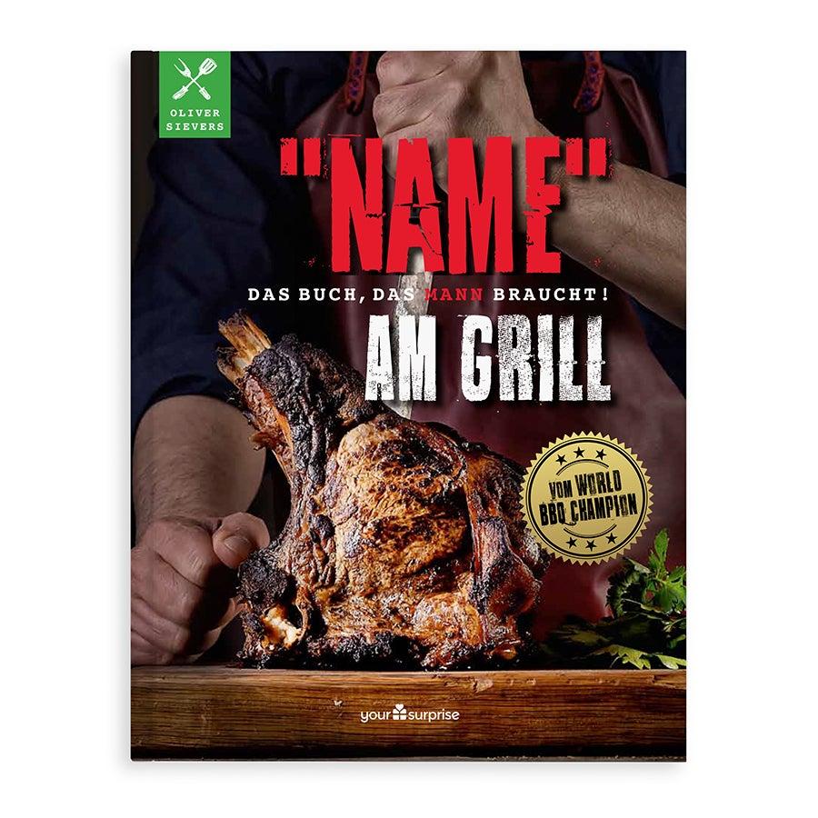 Grillbuch mit Namen - Männer am Grill (Hardcover)