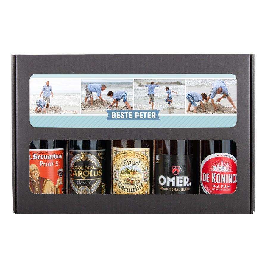 Bierpakket voor peter bedrukken - Belgisch