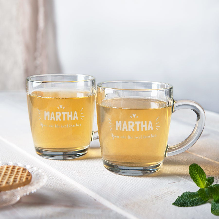 Copos de chá para professores - conjunto de 2