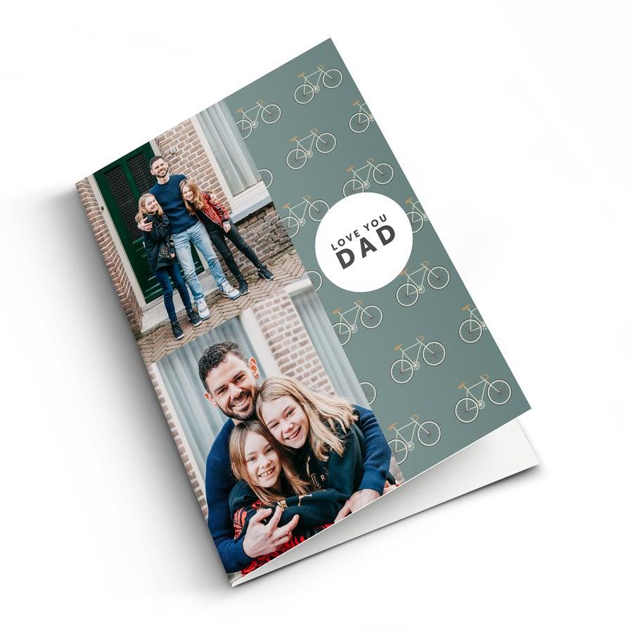 Farsdagskort med bilde - M - Vertikal