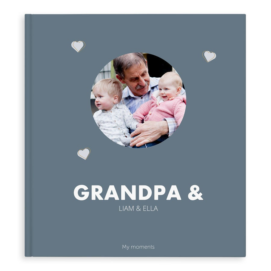 Fotóalbum - Grandpa & Me / Us - XL - Hardcover - 40 oldal