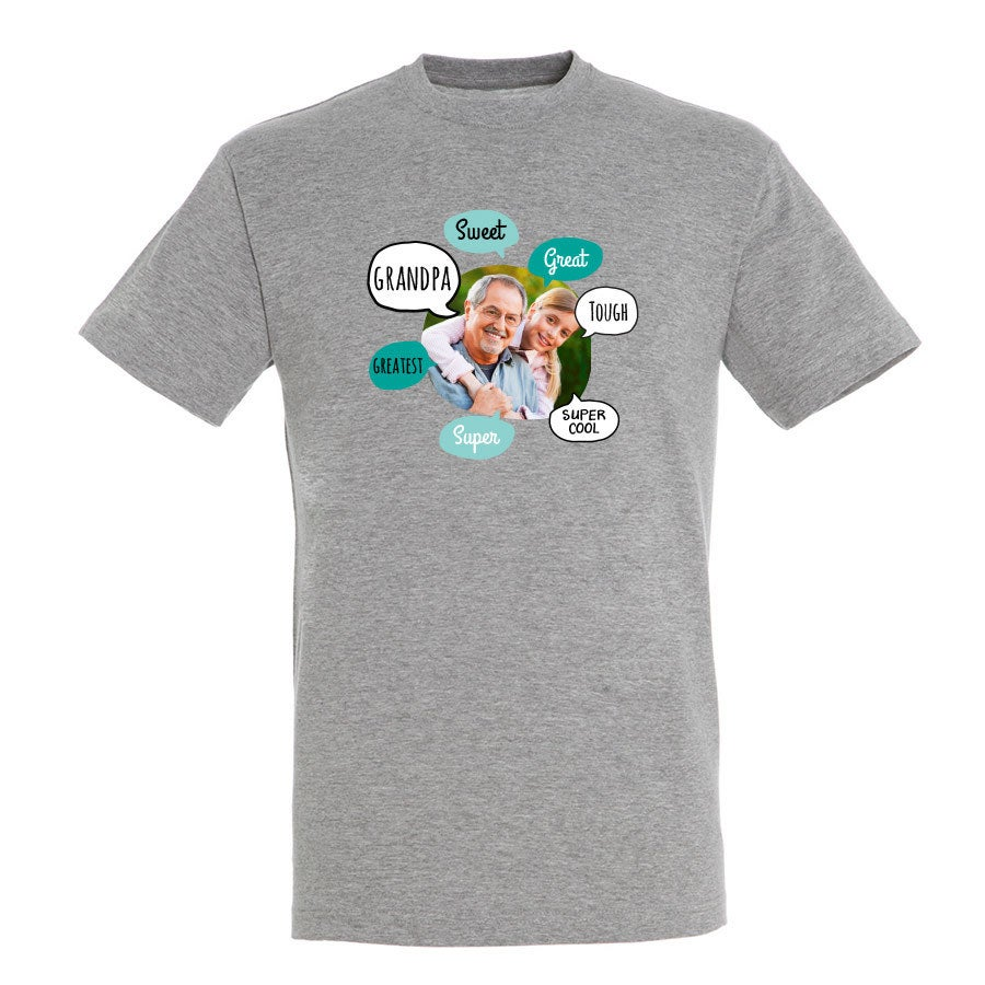 Camisa de avô - cinza - S