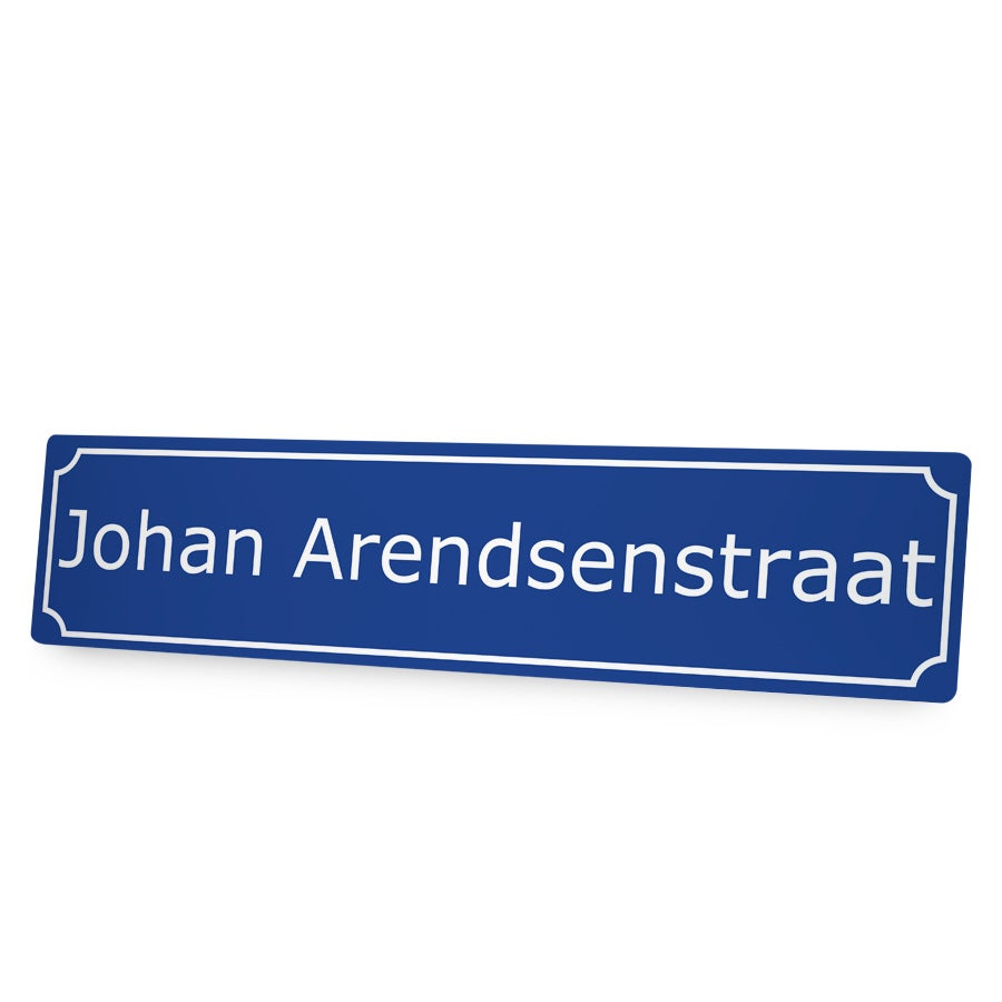 Aluminium straatnaambord bedrukken - 65 x 15 cm