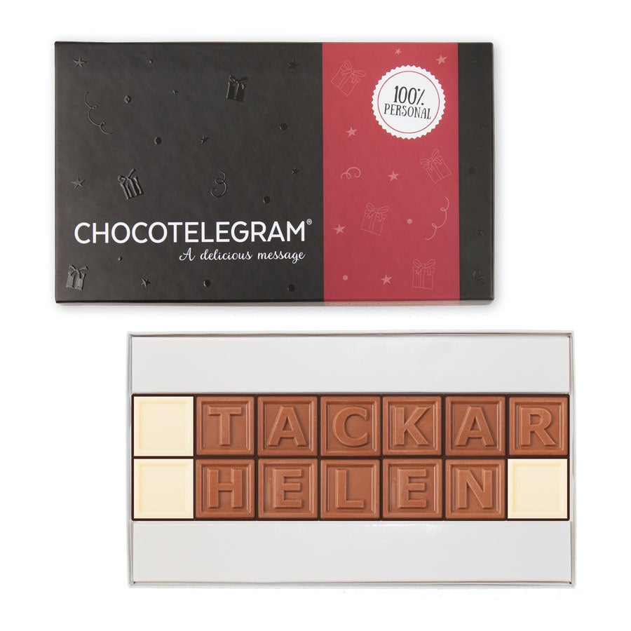 Choklad meddelande - 14 Bokstäver