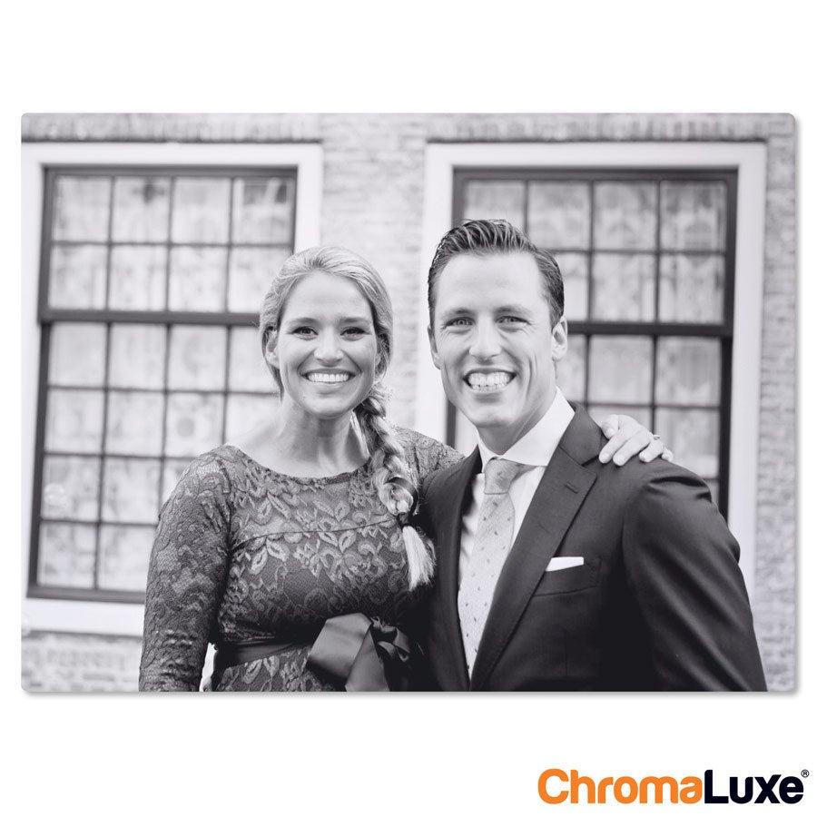 Foto op aluminium -  Wit (ChromaLuxe) - 20 x 15