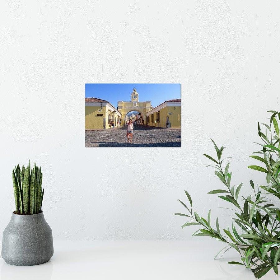Foto op aluminium afdrukken - Wit (ChromaLuxe) - 15 x 10 cm